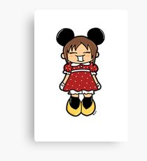 Manga Minnie Canvas Print