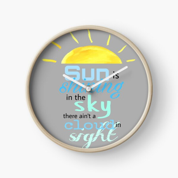 Mr. Blue Sky Clock