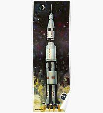 50. Geburtstag der NASA Apollo - Saturn V Rocket Apollo 11 Poster
