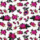 «textura de flor rosa y blanco» de designersara