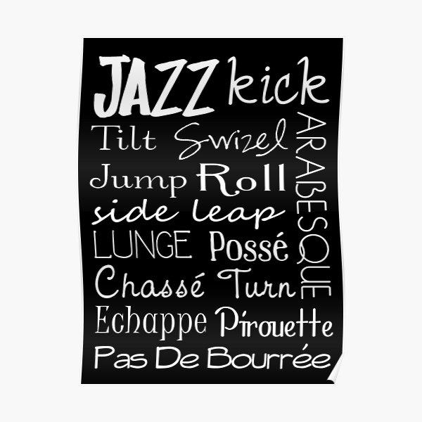 Jazz Dance Subway Art  Poster Poster