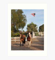 Patriotic Ponys Art Print