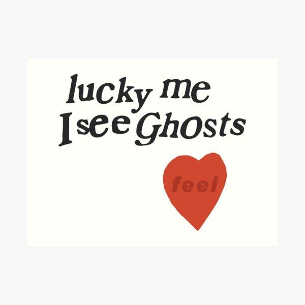 Heureusement que je vois le coeur des fantômes Impression artistique