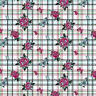 Deadly Plaid Pattern - Pink Blue by WickedRefined - Nicole Demereckis