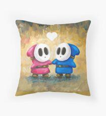 Shy Guys in Love! Throw Pillow