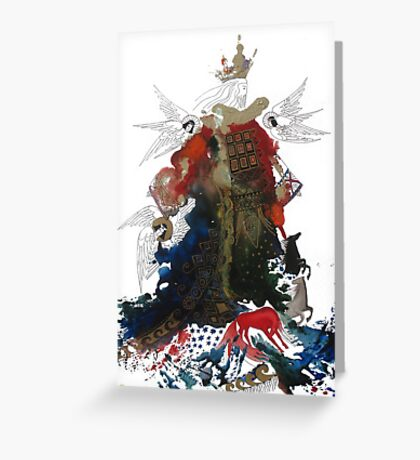 King of glory. Greeting Card
