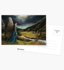 Wind through the stones - celtic lady Postcards