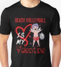 Beach-Volleyball ist mein Valentine-Shirt Slim Fit T-Shirt