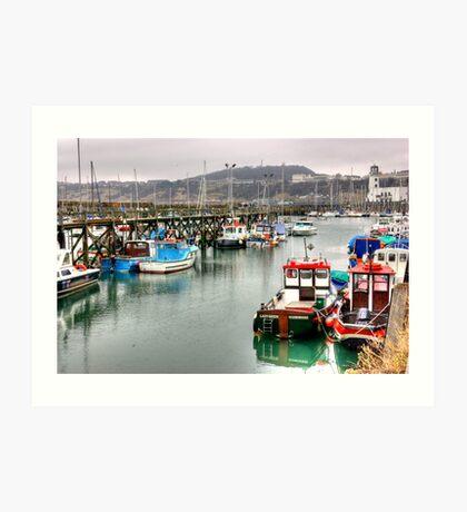 The Harbour ~ Scarborough Art Print