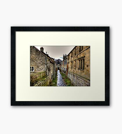 Village Stream Framed Print