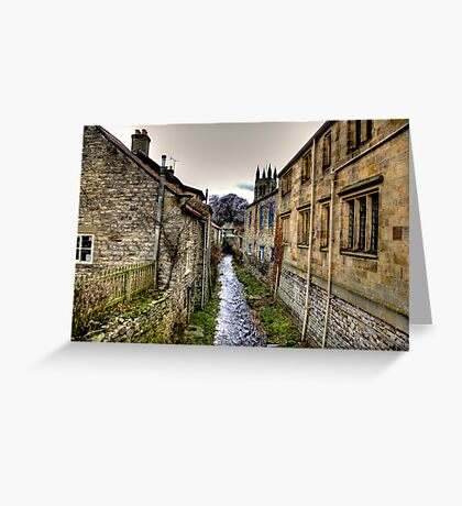 Village Stream Greeting Card