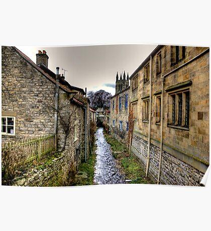 Village Stream Poster