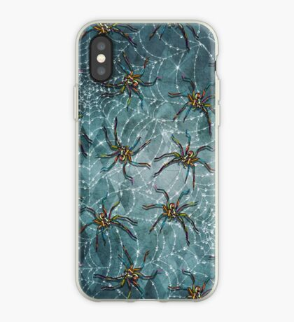 Creepy Spiders and Cobwebs by Robert Phelps iPhone Case