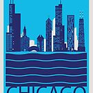 Chicago Travel Poster by Nicole Deyton