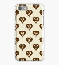 Otters Holding Hands Heart pattern iPhone Case/Skin