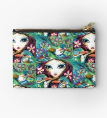 The Little Kingfisher by Sheridon Rayment Studio Pouch