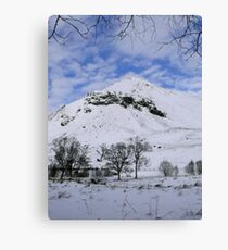 Cnoc Fergan - Glenshee, Scotland in the winter sun Canvas Print