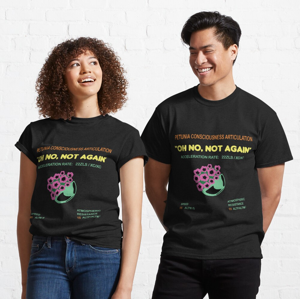 Hitchhikers Guide To The Galaxy - Bowl Of Petunias - Agrajag Classic T-Shirt