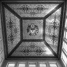 Bishkek Station - dome ceiling (B&W) by Marjolein Katsma