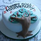Goldener Hochzeitstag-Kuchen von BlueMoonRose