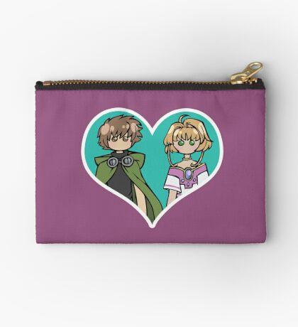 Syaoran and Sakura - shipping dolls Zipper Pouch
