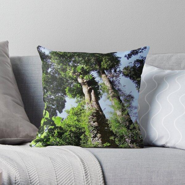 Rainforest Giants Throw Pillow