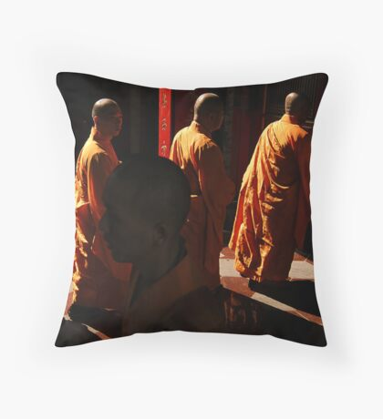 The Monks #1 Throw Pillow