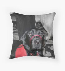 """Photos for Mom: """"I am a good dog and a great partner"""" Throw Pillow"""