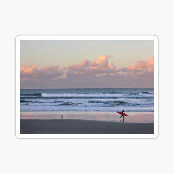 Cabarita surf at sunset Sticker