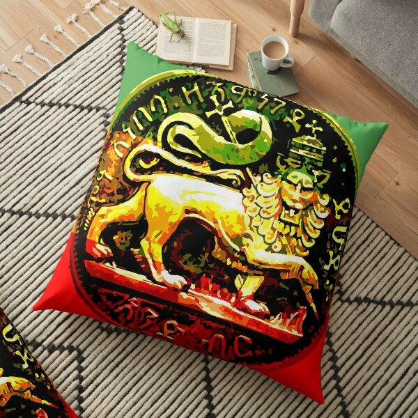 Jah Rastafari Ancient Lion of Judah Design Floor Pillow