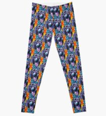 German Shorthaired Pointer Bright colorful pop dog art Leggings