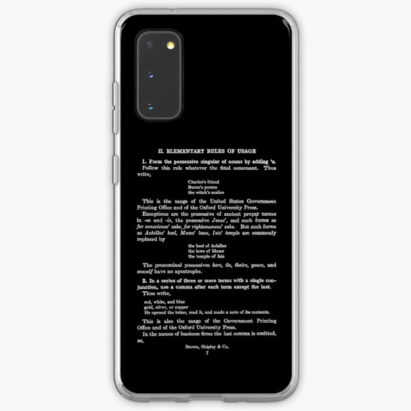 The Elements of Style William Strunk Jr First Page Samsung Galaxy Soft Case