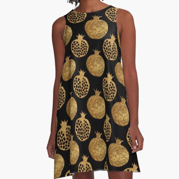 Gold pomegranates A-Line Dress