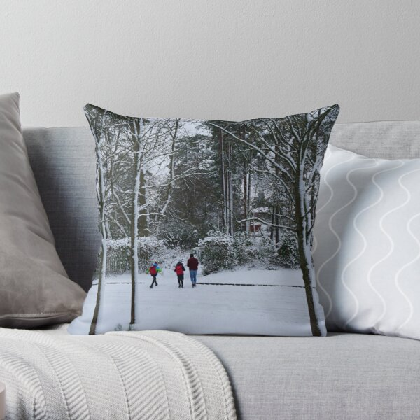 Snow makes you fall in love with colour Throw Pillow