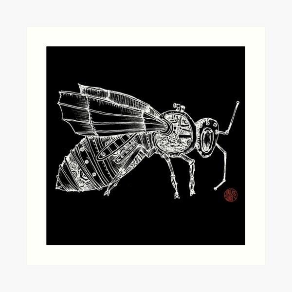 Steampunk Fly Art Print