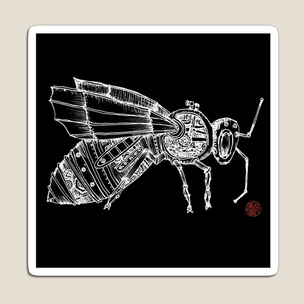 Steampunk Fly Magnet
