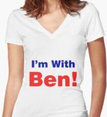 Camiseta entallada de cuello en V Estoy con Ben Carson 2016