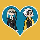 Maka and Soul - shipping dolls by RainytaleStudio