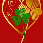 Silver and Gold Shamrocks by Lotacats