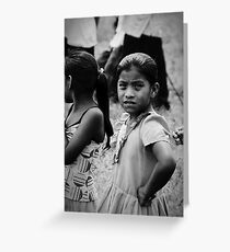 Mayan Girl in the Park Greeting Card
