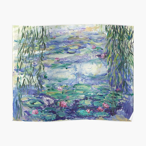 Lillies Over the Pond Poster