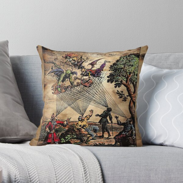 Medieval Spirit Minstrels Throw Pillow
