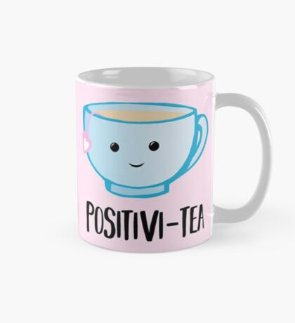 Positivi-TEA - Positivity - Good Luck Pun - Valentines Pun - Birthday Pun - Anniversary Pun - Tea Pun - Cute - Motivational Pun - Tea Cup Mug