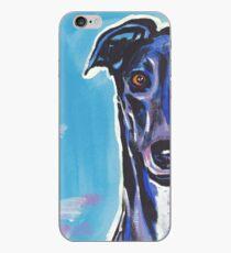 Greyhound Dog Bright colorful pop dog art iPhone Case