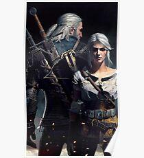 Ciri & Geralt Witcher 3 Art Poster