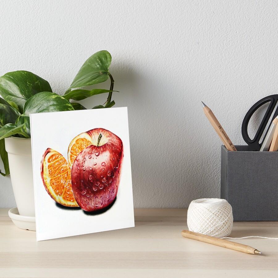 Freakonomics (Color pencil drawing) Art Board Print