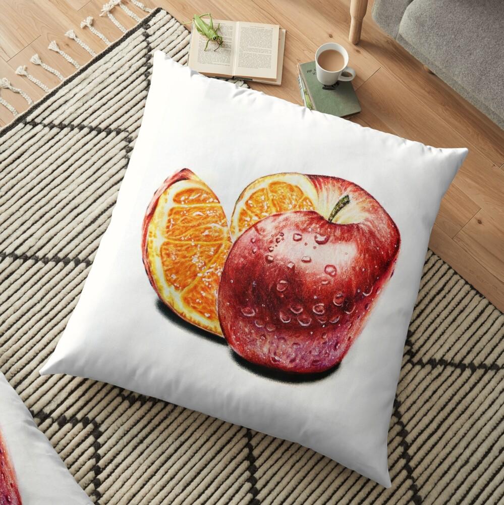 Freakonomics (Color pencil drawing) Floor Pillow