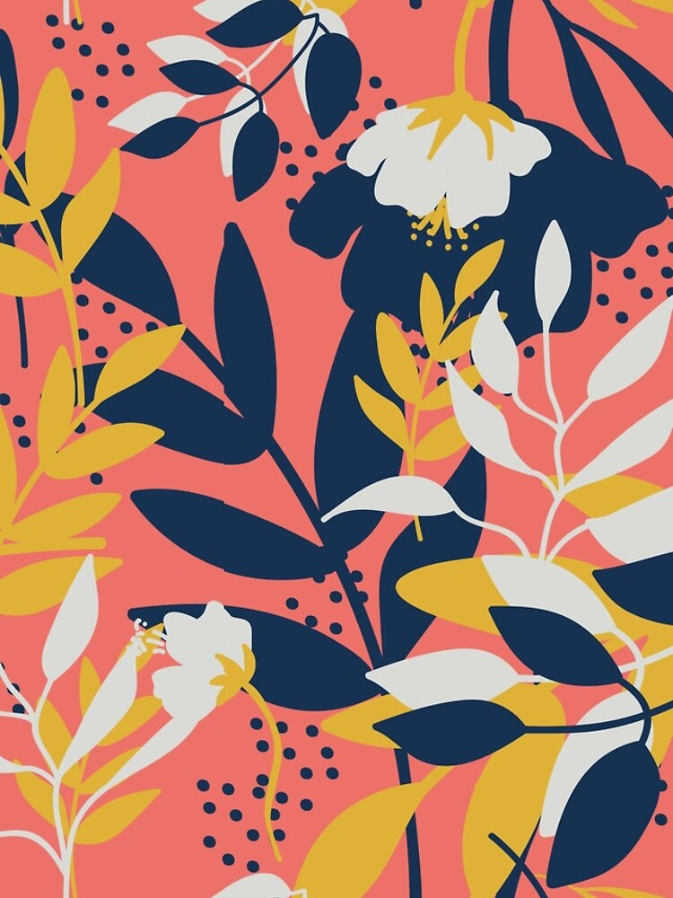 Flower coral pink by Katbydesign