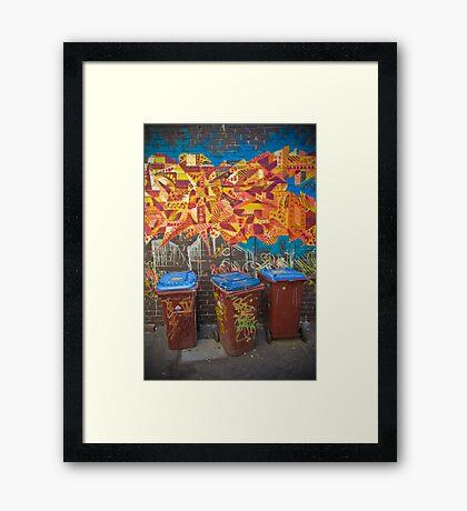 Croft Alley Bins Framed Print