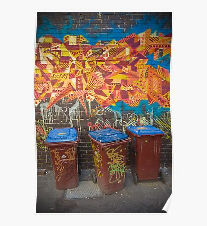 Croft Alley Bins Poster